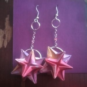 Jewelry - Origami star earrings